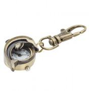 1/2 полых дельфин унисекс сплава аналоговые кварцевые часы брелок (бронза)