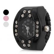 алмаз женщин гуманоида стиль сплава аналоговые кварцевые часы кольцо (разных цветов)