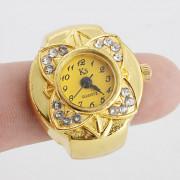 алмаз женщин цветок стиле сплава аналоговые кварцевые часы кольцо (разных цветов)