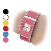 Алмазный Женские Pattern площади набора Стальной браслет кварцевые аналоговые часы браслет (разные цвета Dial)