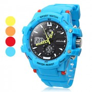 Аналого-цифровые мультиходовые наручные часы унисекс (разные цвета)
