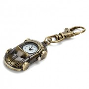 Аналоговые кварцевые часы-брелок унисекс в стиле спортивного ретро автомобиля (бронза)
