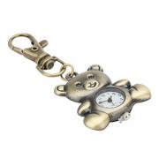 """Аналоговые кварцевые часы-брелок в форме милого медвежонка (""""под бронзу"""")"""