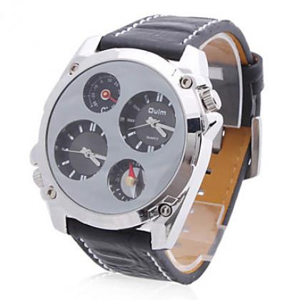 Аналоговые кварцевые часы унисекс с ремешком из кожзама (разные цвета)