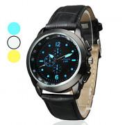 Аналоговые кварцевые наручные часы унисекс с простым дизайном (черные)