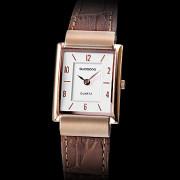 Аналоговые кварцевые женские удаленного Серебряный Коричневый Кожаный ремешок наручные часы (коричневый)