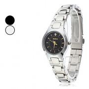 Аналоговые стали женские кварцевые наручные часы (серебро)