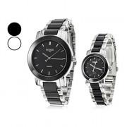 Аналоговый Сплав пары кварцевые наручные часы (разных цветов)