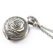 античный кварца розы малых карманные часы колье цепочки