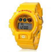 Автоматические цифровые наручные часы унисекс из резины (желтые)