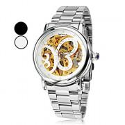 Бабочка женщин Стиль серебряный циферблат Сталь Аналоговый Авто-механические наручные часы (разных цветов)