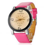 Big Numbers женский набор PU Группа Кварцевые аналоговые наручные часы (разных цветов)