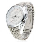 бизнес мужская сплава аналоговые кварцевые наручные часы (серебро)
