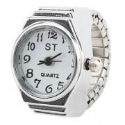 большой набор женщин в стиле сплава аналоговые кварцевые часы кольцо (серебро)