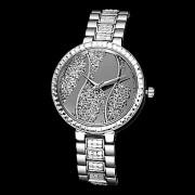 бусы качения женские алмазов стальной ленты кварцевые аналоговые наручные часы (разные цвета)