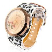 Cat женский леопардовый дизайн PU Группа Аналоговые кварцевые наручные часы