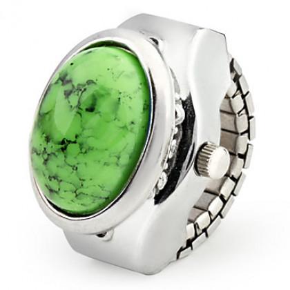 Часы-кольцо с овальным камнем