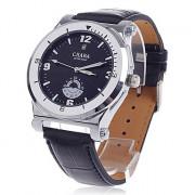 CJIABA GD101 Стильный Скелет Автоматическая Механическая рука ветра аналогового Мужские наручные часы - черный + серебро