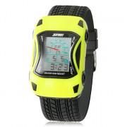 Детские цифровые наручные часы в виде машины на силиконовом ремешке. Цвета в ассортименте