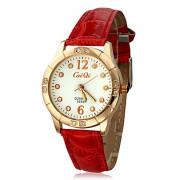 Diamante женский белый циферблат Pattern PU Группа Кварцевые аналоговые наручные часы (разных цветов)