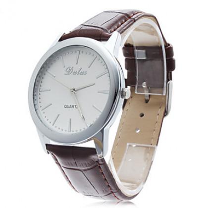 Элегантный мужской Деловой стиль PU аналоговые кварцевые наручные часы (разных цветов)