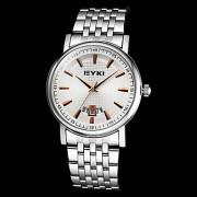 EYKI мужская функция календаря круглый циферблат стальной ленты кварцевые аналоговые наручные часы (разные цвета)