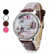 Fashional Стиль женского PU аналоговые кварцевые наручные часы (разных цветов)