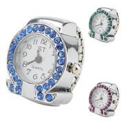 греческой буквой ω женщин дизайн сплава аналоговый кольцо кварцевые часы (разных цветов)