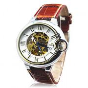 Hot! Мужские лица автоматического роскошного стали наручные часы Скелет Мужские механические часы 9