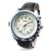 Hot! Мужские лица автоматического роскошного стали наручные часы Скелет Мужские механические часы 37