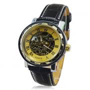 Hot! Мужские механические часы-скелетон (сталь, ручной подзавод)
