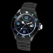 Intimes мужской функции календаря Круглый циферблат черный силиконовой лентой Кварцевые аналоговые наручные часы (разные цвета)