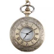 Карманные кварцевые часы из металлического сплава (под бронзу)