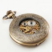 Карманные механические часы в бронзовом футляре
