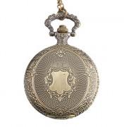 классический сплав женщин аналоговые кварцевые часы карманные (бронза)
