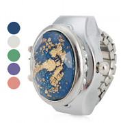 кристалл женщин сияющий эффект стиле сплава аналоговые кварцевые часы кольцо (разных цветов)