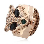Кварцевые аналоговые Женщины Fox Pattern Сплав кольцо смотреть