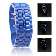 лава стиль синей светодиодной безликих наручные часы - синий