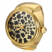Leopard Женские печати золотой узор Сплав Кварцевые часы Кольцо