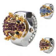Лягушка женщин дизайн сплава аналоговый кольцо кварцевые часы (разных цветов)