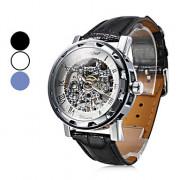 Механические аналоговые часы унисекс (разные цвета)