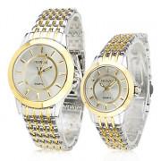Модные аналоговые часы для нее и для него (серебристые и золотистые)