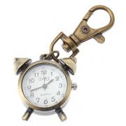 Мужская Alarm Clock Design сплава Кварцевый брелок Часы (бронза)