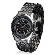 Мужская Автоматическая Механическая Роскошные стальной каркас наручные часы 4