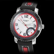 Мужская Черный корпус искусственная кожа аналоговые кварцевые наручные часы (Multi-Color)