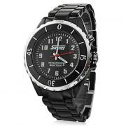 Мужская Черный циферблат черный керамический браслет кварцевые аналоговые наручные часы