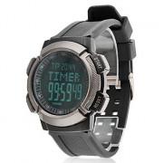 Мужская давления воздуха ЖК-цифровой резинкой наручные часы (черный)