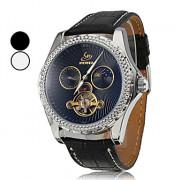 Мужская Функция календаря PU Аналоговый Авто-механические наручные часы (разные цвета Dial)
