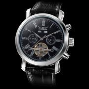Мужская Функция календаря серебряный циферблат аналогового PU-Авто Механические наручные часы (разных цветов)
