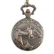 Мужская лошадь сплава аналогового карман кварцевые часы (бронза)